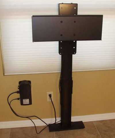 Diy Project Build Your Own Automated Tv Lift Wall Mounted Tv