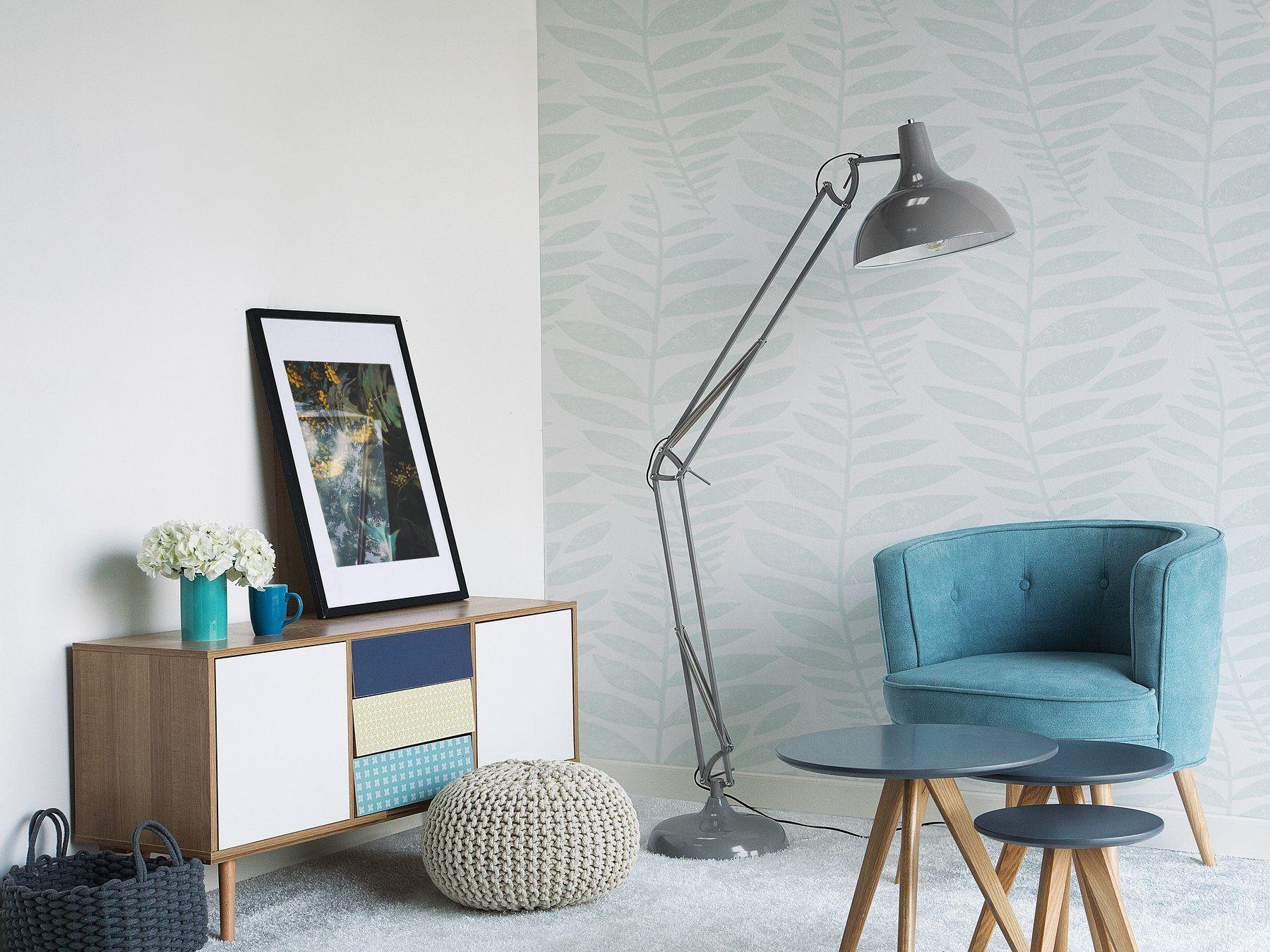 Stehlampe Grau 175 Cm Parana Stehlampe Grau Wohnzimmer Bodenbelag Modernes Wohnzimmer