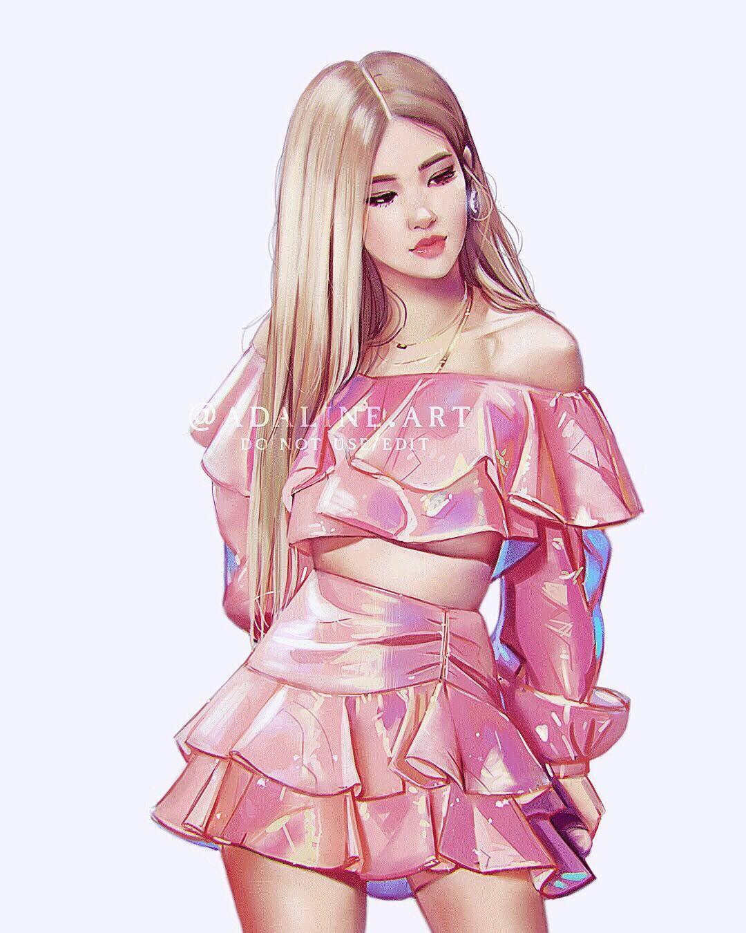blackpink rose Black pink kpop, Fashion design