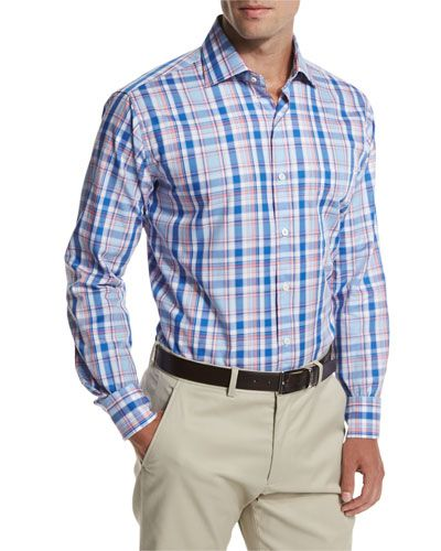 a698a04ba1dd Shop Holiday Plaid Sport Shirt from Peter Millar at Neiman Marcus Last Call