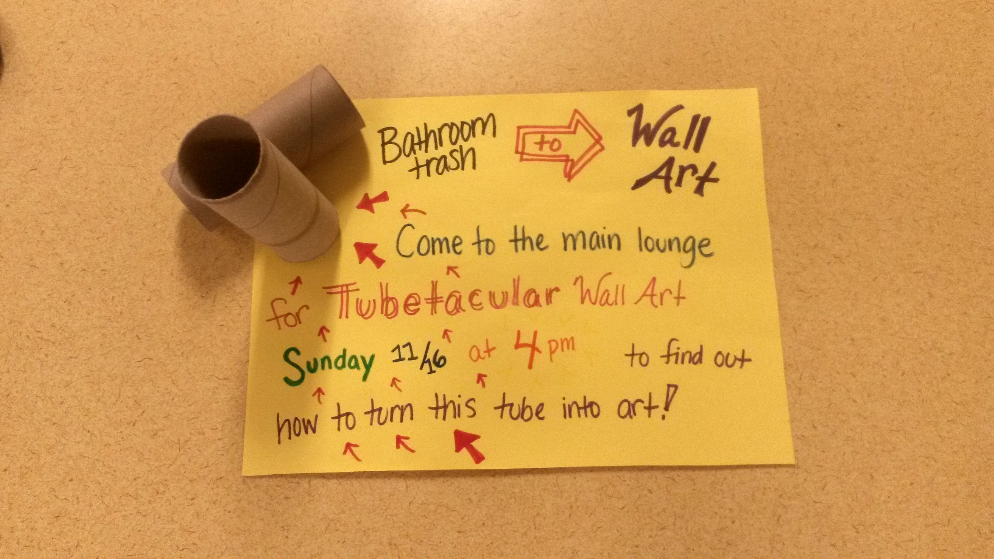 sustainability program- Wall art out of recycled toilet paper or ...