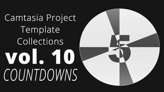 Countdowns is our tenth volume of Camtasia Project files. In this collection you find no less than 10 new Camtasia Library files ready to be dragged-and-dropped right into your Camtasia projects.  As the title suggests this collection of Camtasia project files are focused on Countdowns. You have 10 different countdowns already prepared to be dropped to your Camtasia timeline. These has never before been available in Camtasia Studio.