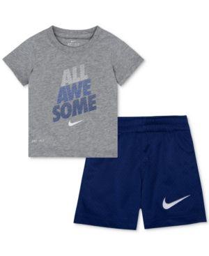 afe3fa3c22 Nike 2-Pc. Awesome-Print Dri-fit T-Shirt & Shorts Set, Toddler Boys ...