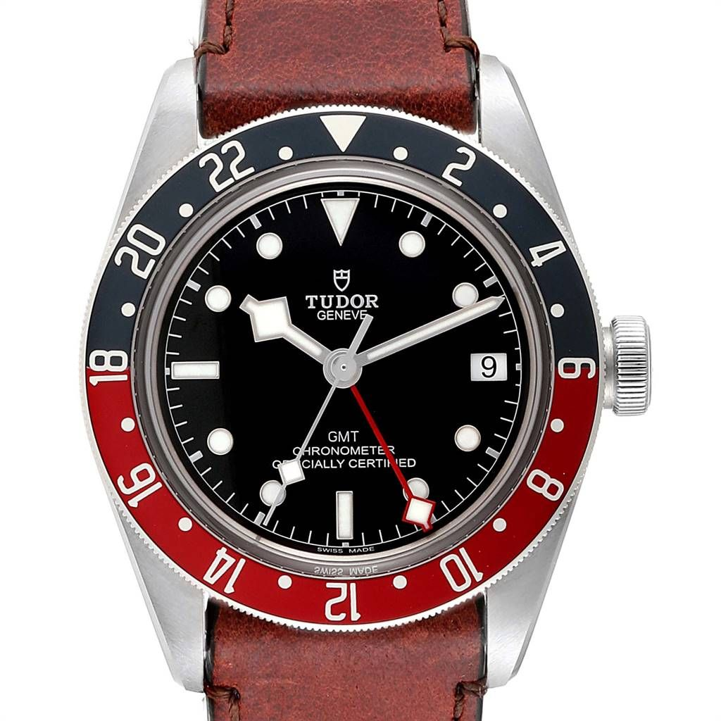 Tudor Heritage Black Bay Gmt Pepsi Bezel Mens Watch 79830rb Box Card Swisswatchexpo In 2020 Tudor Heritage Black Bay Watches For Men Watches