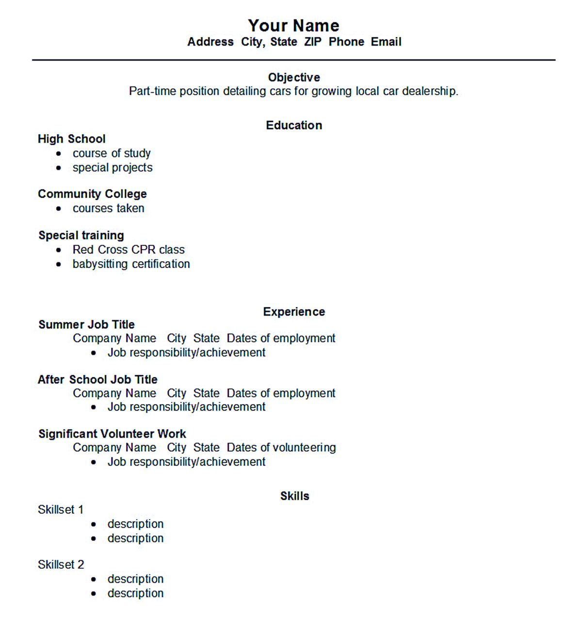 Academic Resume Template Word Academic Resume Template Shows You