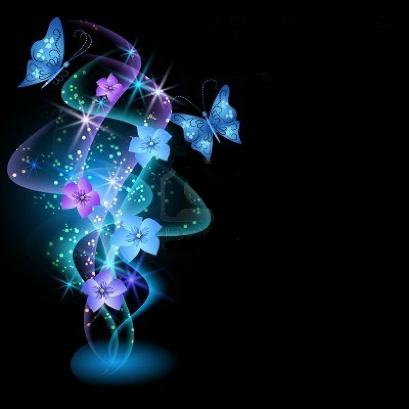 خلفيات مضيئة للفوتوشوب خلفيات براويز للتصميم والكتابه Glowing Background Butterflies Vector Fractal Art
