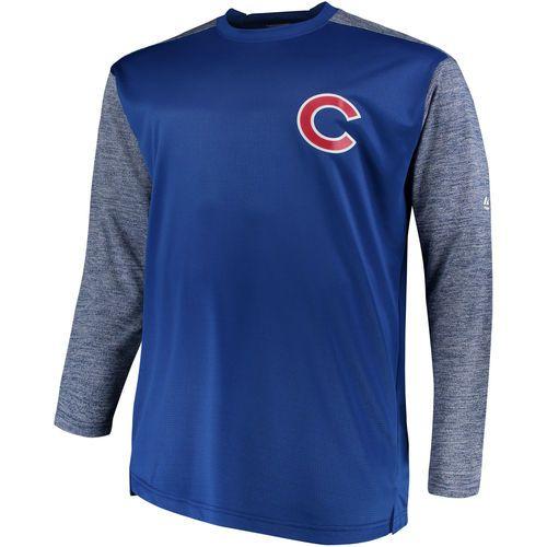 Men S Chicago Cubs Majestic Royal Gray Big Tall On Field Tech Fleece Sweatshirt Sweatshirt Fleece Tech Fleece Sweatshirts