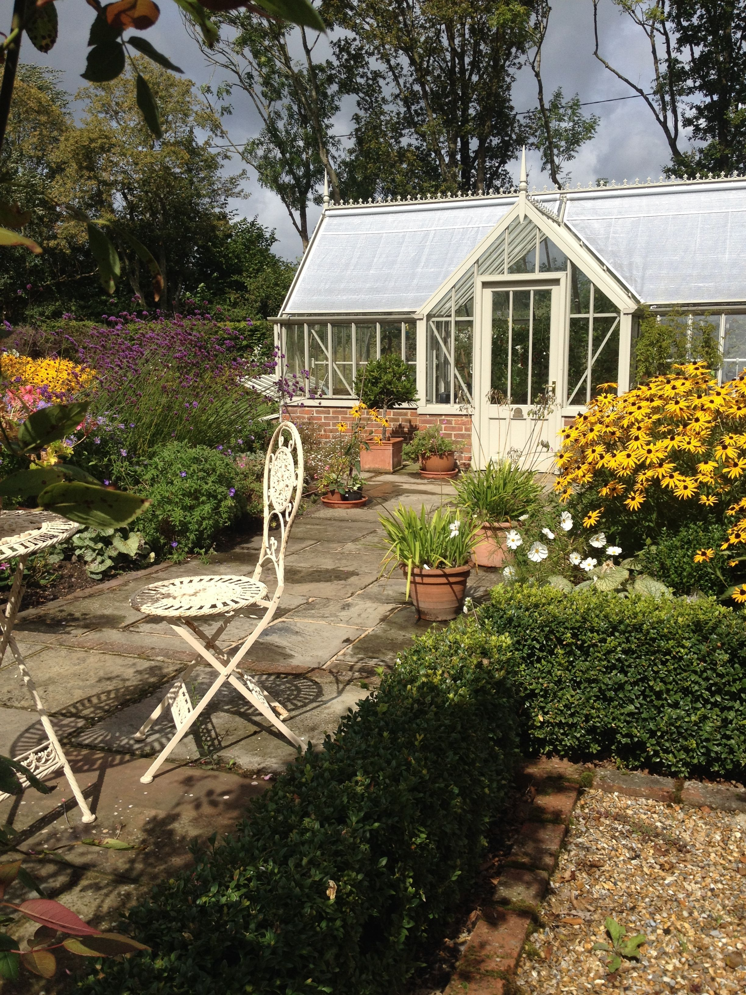 English Country Garden. Lovely Alitex greenhouse #gardens4life ...