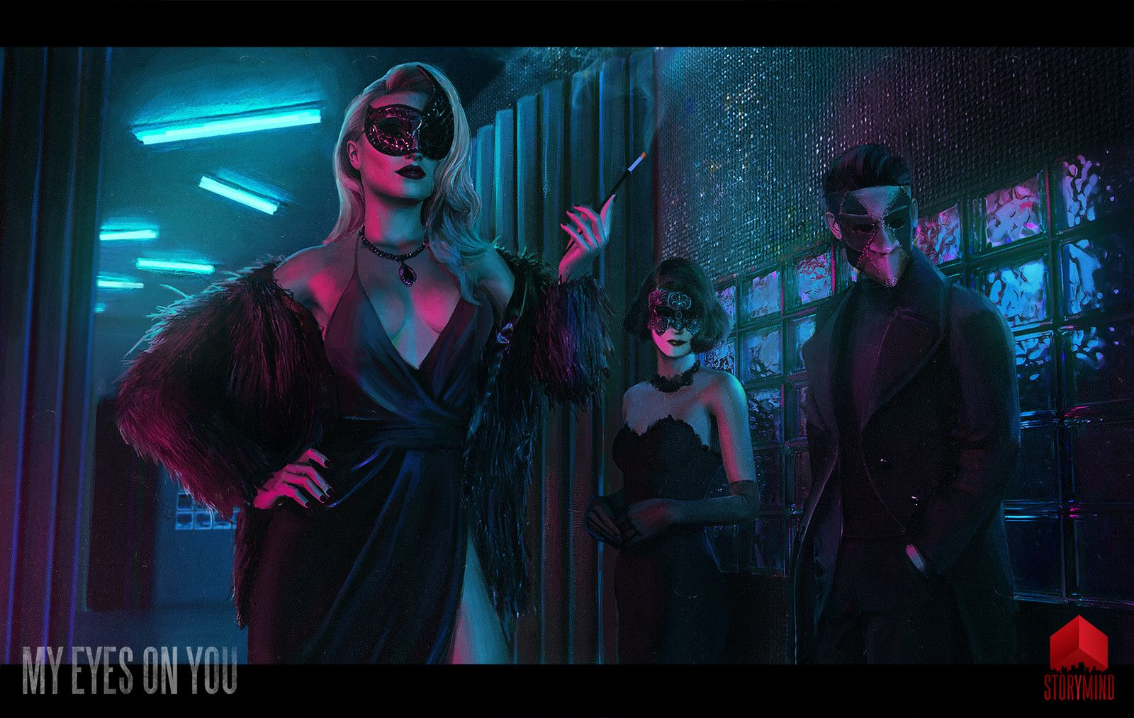 Masquerade, Tony Skeor on ArtStation at https://www.artstation.com/artwork/BWkrl