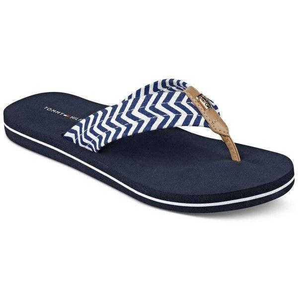 Tommy Hilfiger Chill Flip Flops Chevron Shoes Flip Flops Tommy Hilfiger