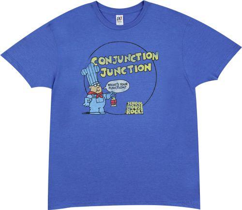 Schoolhouse Rock Conjunction Junction t-shirt