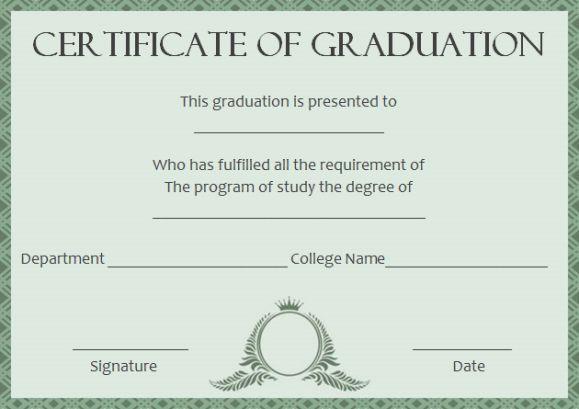 Masters degree certificate template #masterdegree