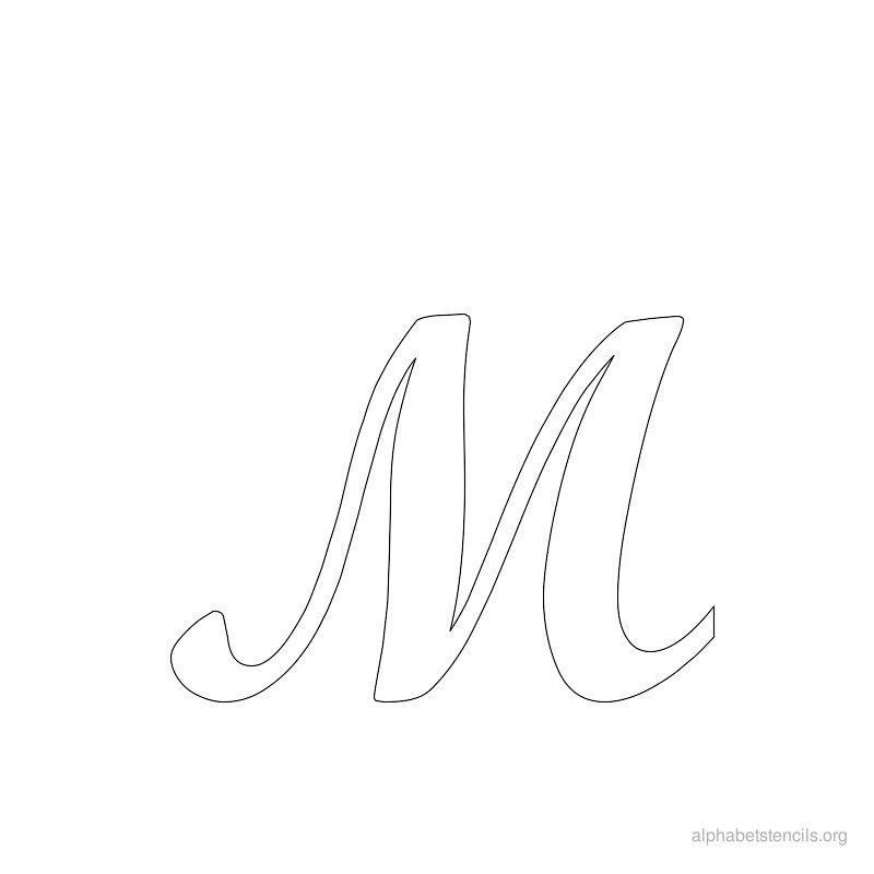 photo relating to Cursive Stencils Printable named Alphabet Stencils Cursive M Monogram Pochoir lettre