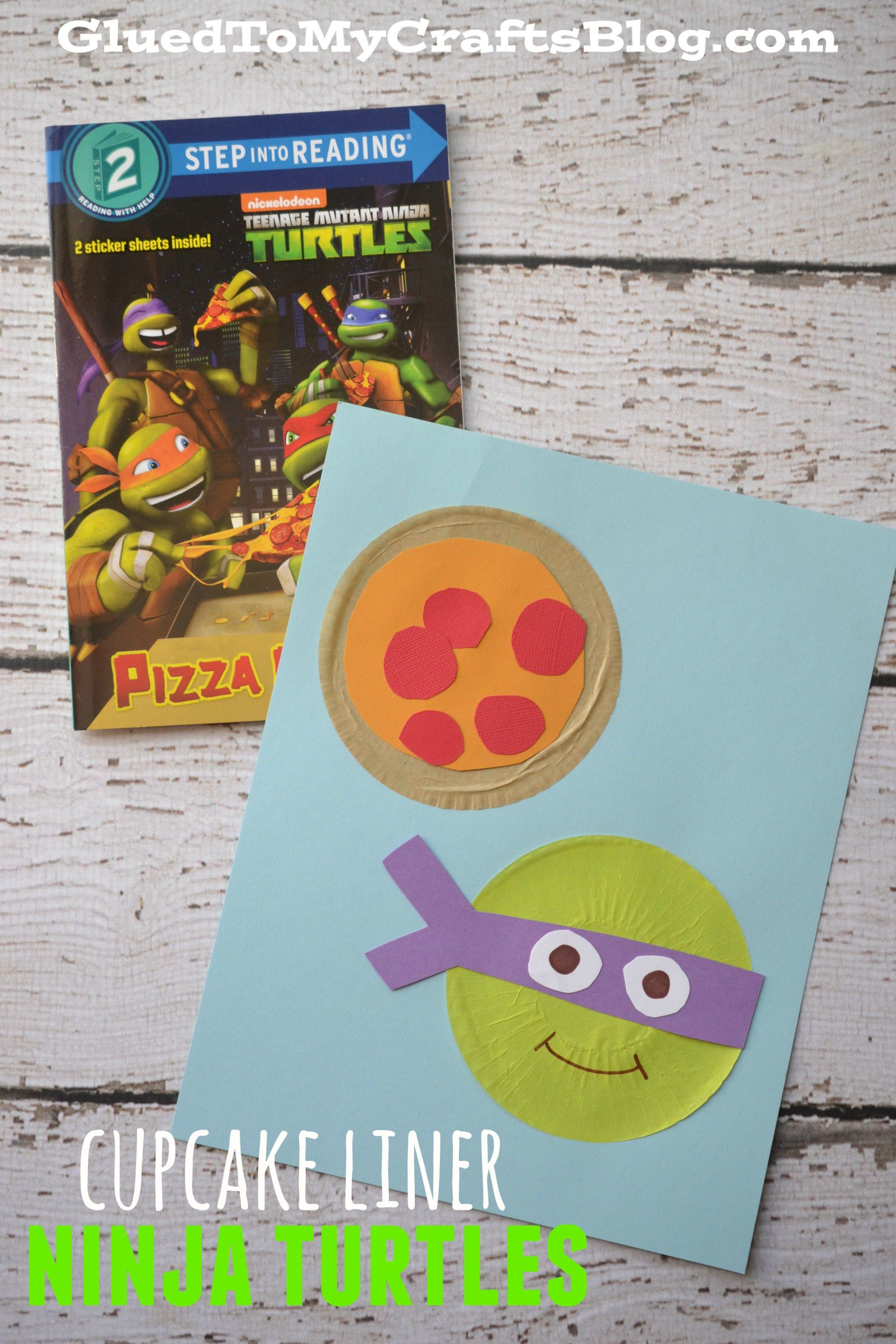 Cupcake Liner Ninja Turtles Kid Craft