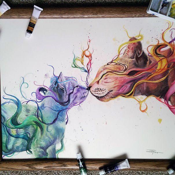 A Seulement 17 Ans Il Realise De Magnifiques Peintures A L Eau