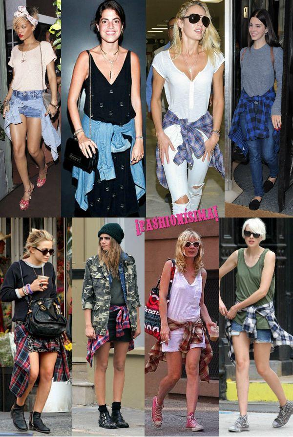 Trend alert: camisas atadas a la cintura, el nuevo complemento it