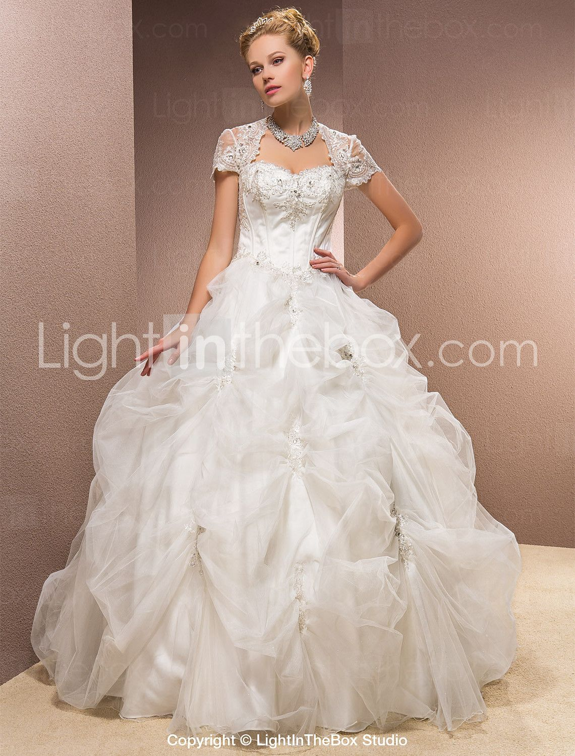 Lightinthebox wedding dresses  Ball Gown Sweetheart Satin And Tulle Floorlength Wedding Dress