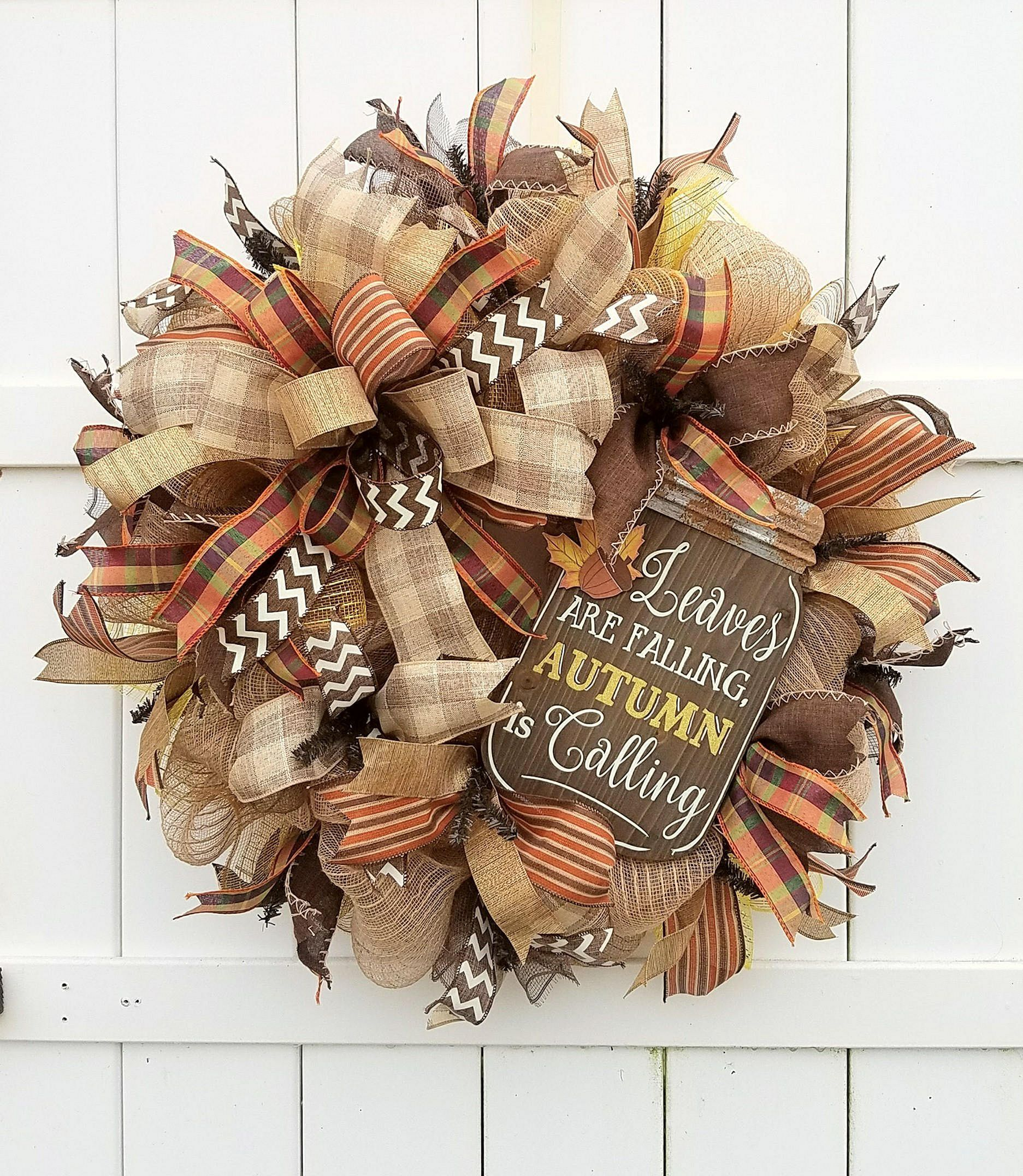 12 Easy Diy Deco Mesh Wreaths For Fall: Best Ideas To Create Fall Wreaths Diy: Top 30 Handy