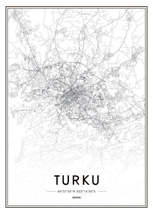 Turku Juliste Juliste Karttajuliste Kartta