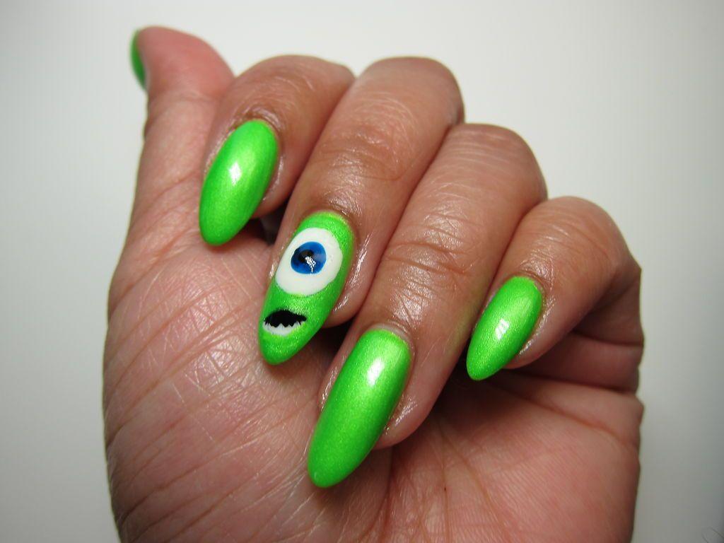 Mike Wazowski! | nail art: cute! | Pinterest