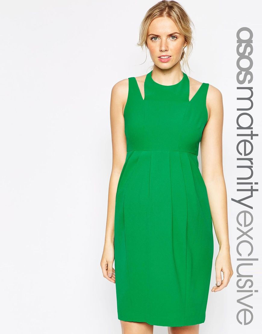 Image 1 of asos maternity tulip dress with cut out neck image 1 of asos maternity tulip dress with cut out neck ombrellifo Images