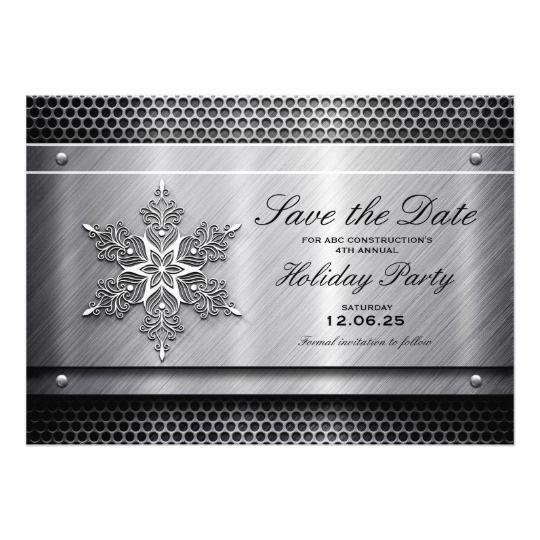 Business holiday party save the date card metal business holiday party save the date card cheaphphosting