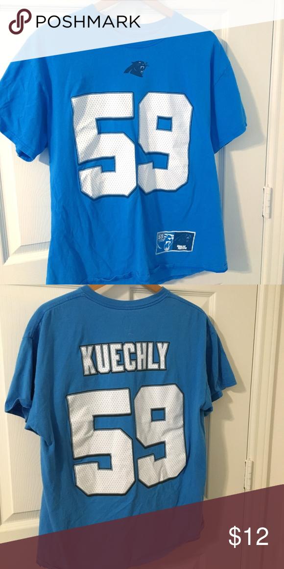 promo code 7f858 68931 Carolina Panthers Luke Kuechly Tee Luke Kuechly Jersey Tee ...