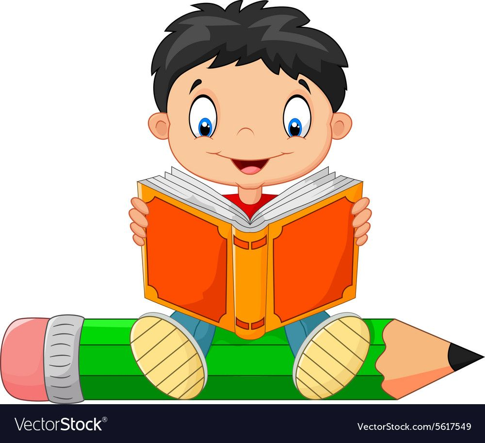 Illustration Of Cartoon Little Boy Reading A Book Download A Free Preview Or High Quality Adobe Illustrator Ai Eps Pdf Cartoon Cartoon Kids School Wall Art
