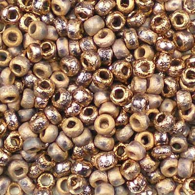 Etched Crystal Capri Gold - Czech 8/0 Seed Beads