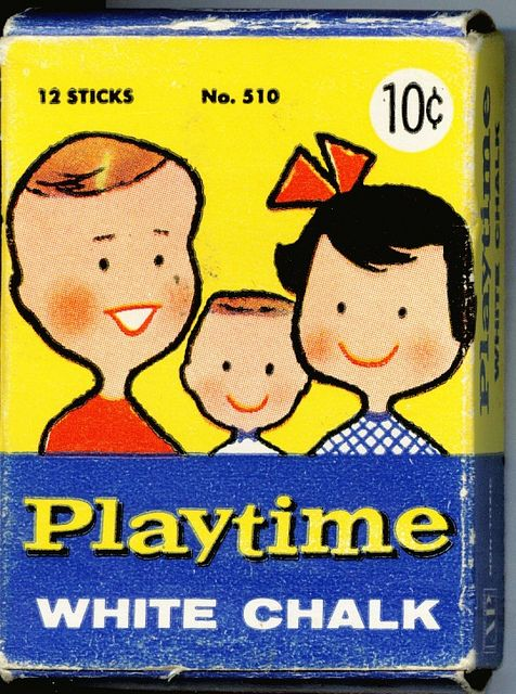 Playtime White Chalk (front) by worldofmateo, via Flickr