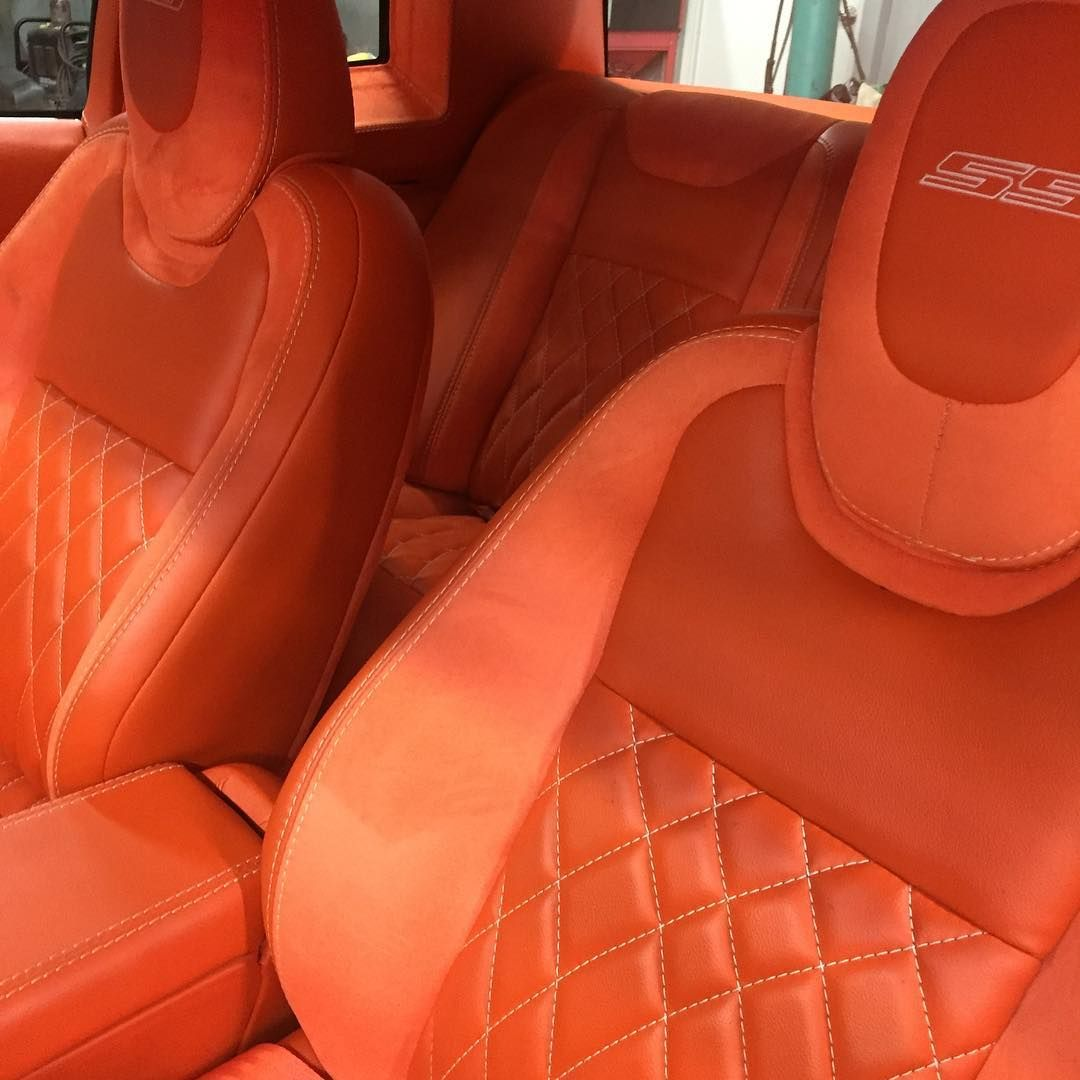Full Custom 85 Monte Carlo White With All Orange Interior Camaro Dash Swap Seats And Door Panels Ultimate Audio Ultimateaudiosc Gbody Nation