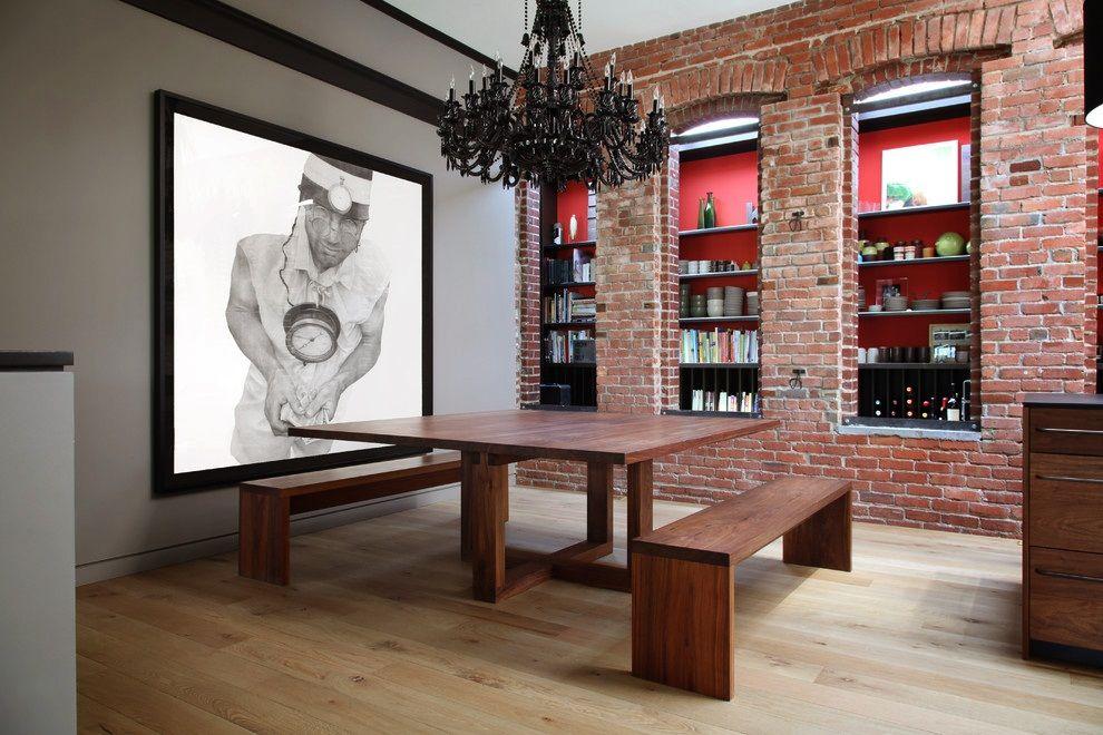 paredes de ladrillo visto - Buscar con Google Casa Nueva JOSE - cocinas grandes de lujo