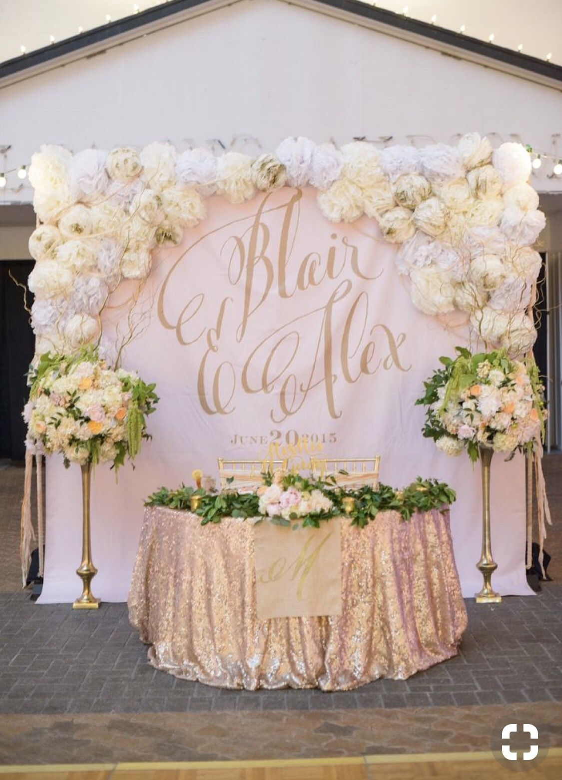 Rose gold wedding decor image by BrittanyDaywn on Glam