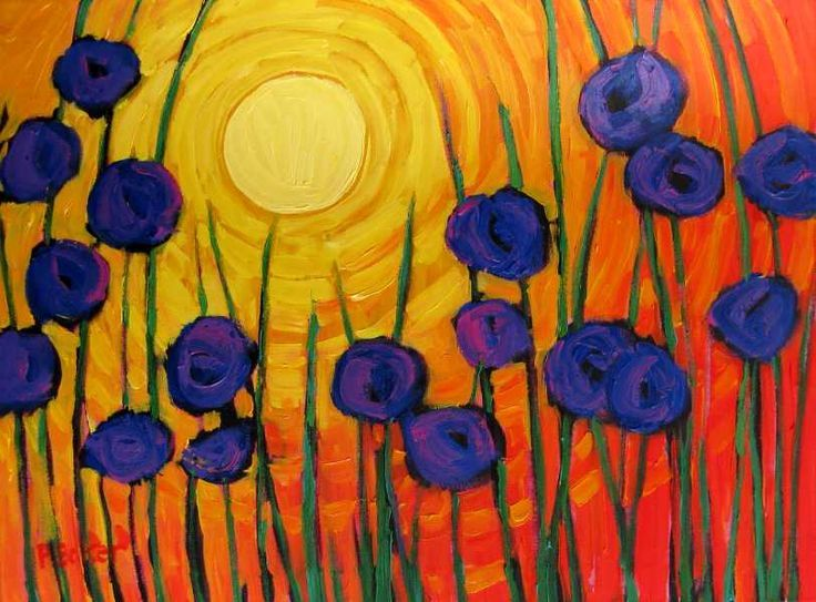 Painting Complementary Colours Remembrance Day ArtSecondary ColorArtist