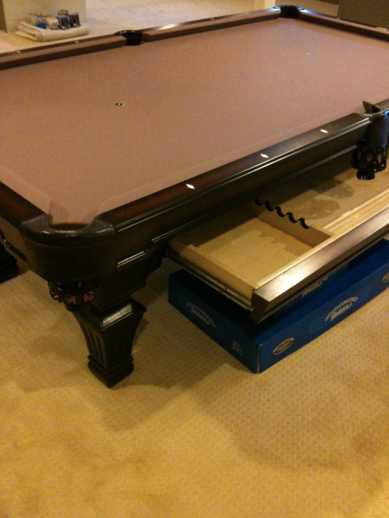 Another Olhausen Hampton Pool Table With A Cue Storage Drawer - Olhausen hampton pool table