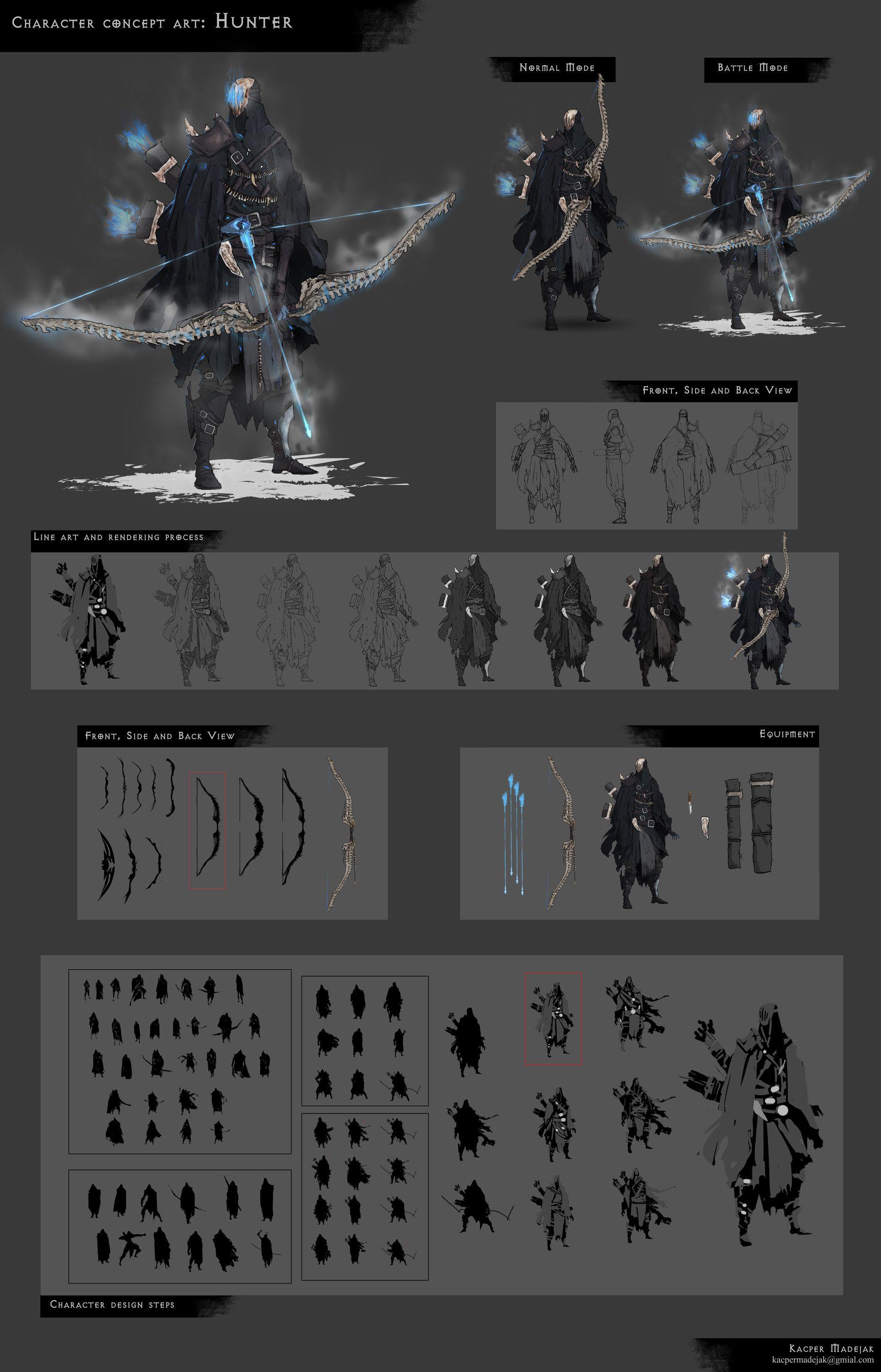 ArtStation Character Design: Hunter, Kacper Madejak