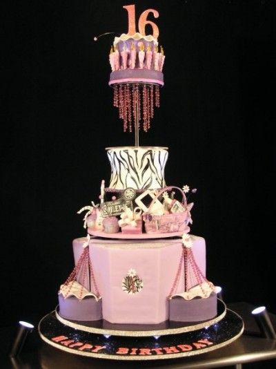 Pleasing This Cake Is By Marina Sousa S Cake For Miley Cyrus Sweet 16Th Funny Birthday Cards Online Alyptdamsfinfo