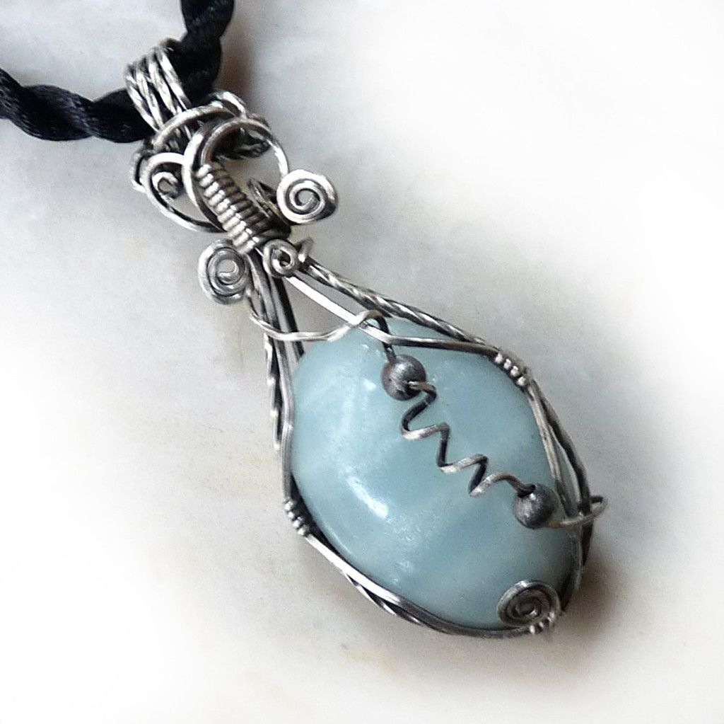 Amazonite Wire Wrapped Pendant | Wire wrapping, Gemstone and Wraps