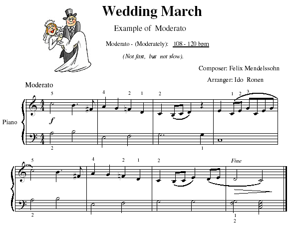 Wedding March Play Moderato