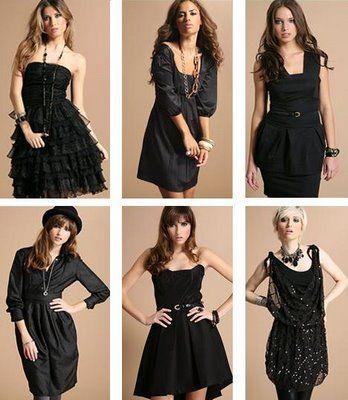 Accesorios para vestidos de noche negros