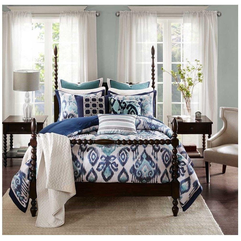 La Jolla Blue Ikat Bedding Comforter Set Ikat bedding