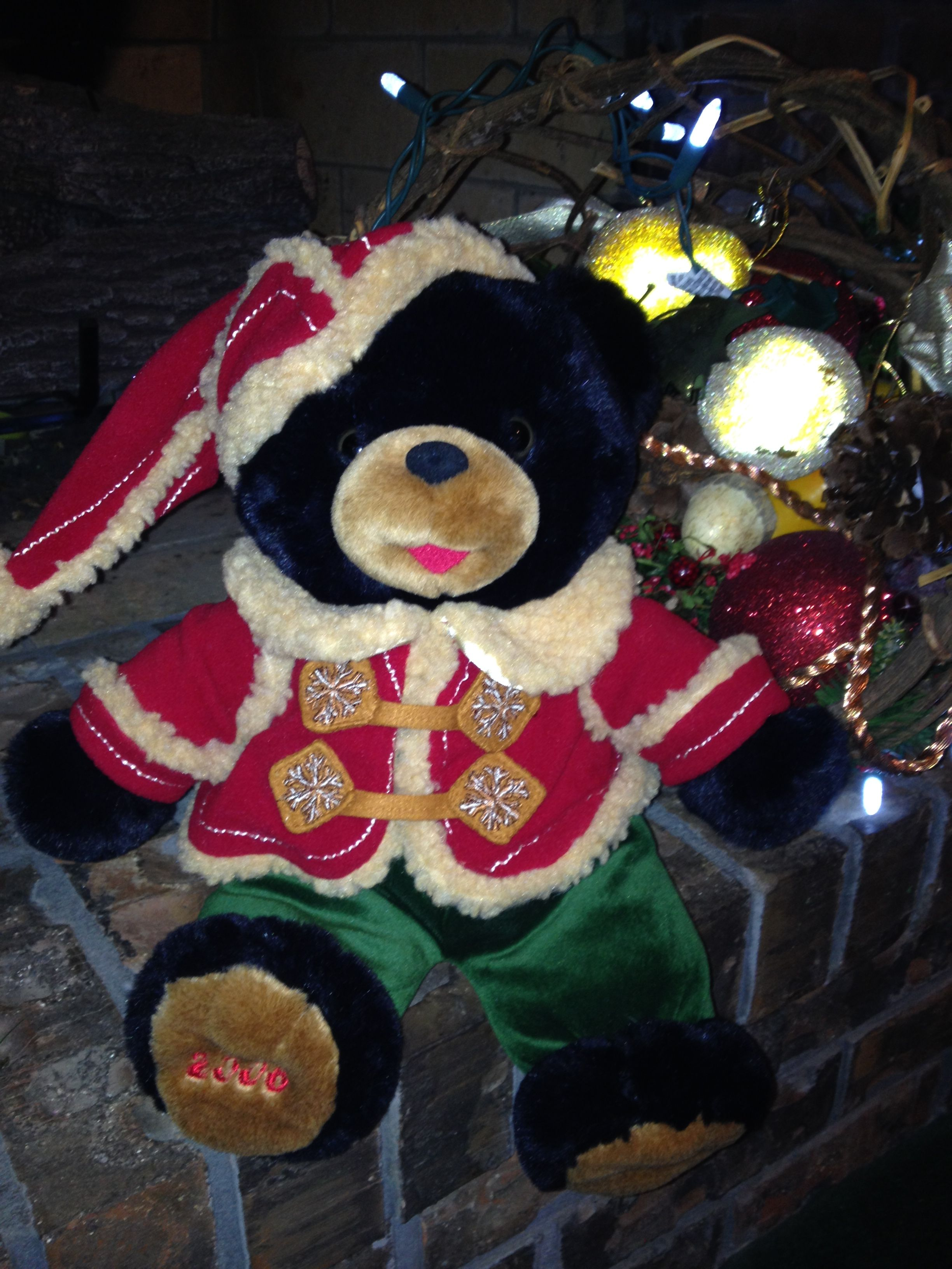 2006 DanDee Walmart Snowflake Teddy Black Bear (With
