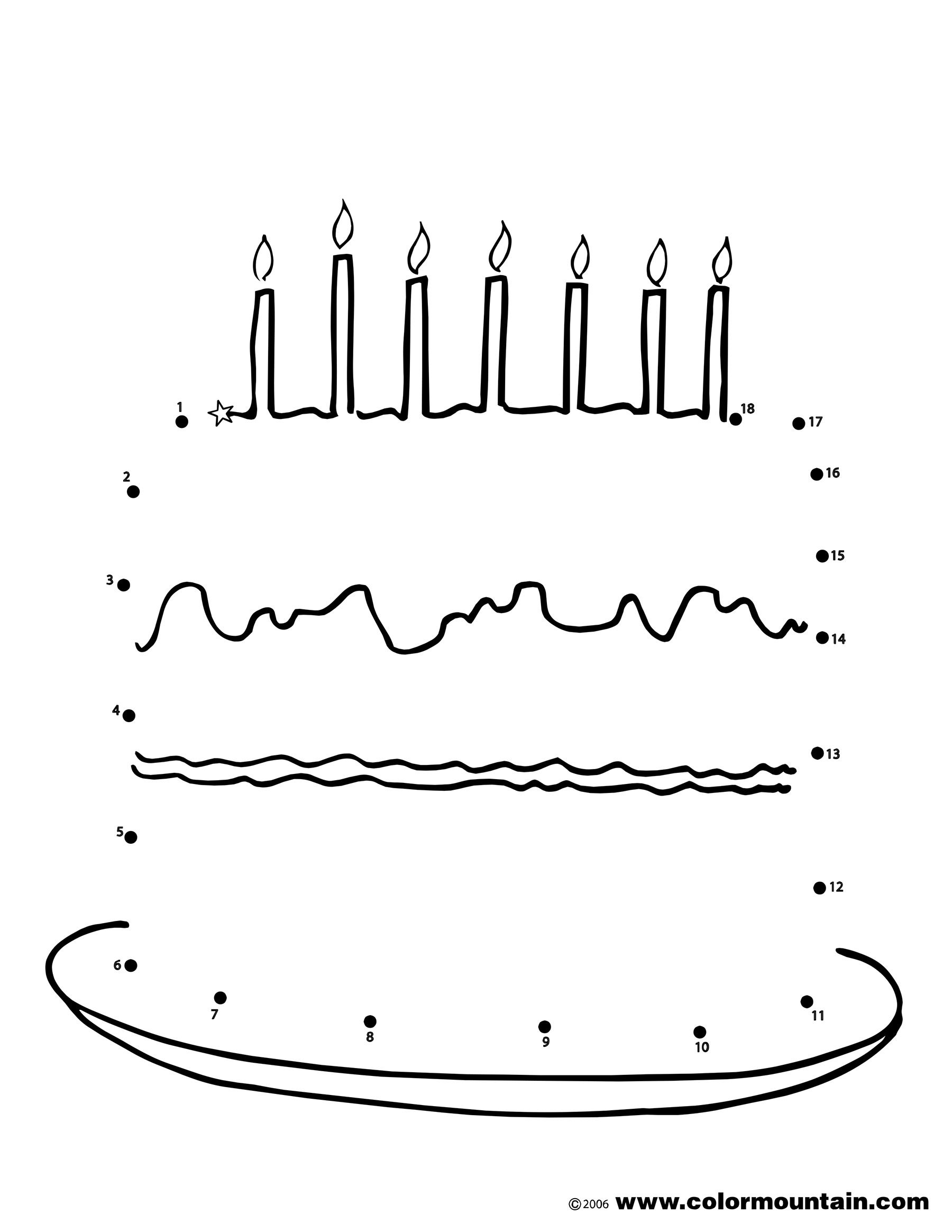 birthday cake dot to dot activity page coloring page doll birthday party art birthday cake. Black Bedroom Furniture Sets. Home Design Ideas