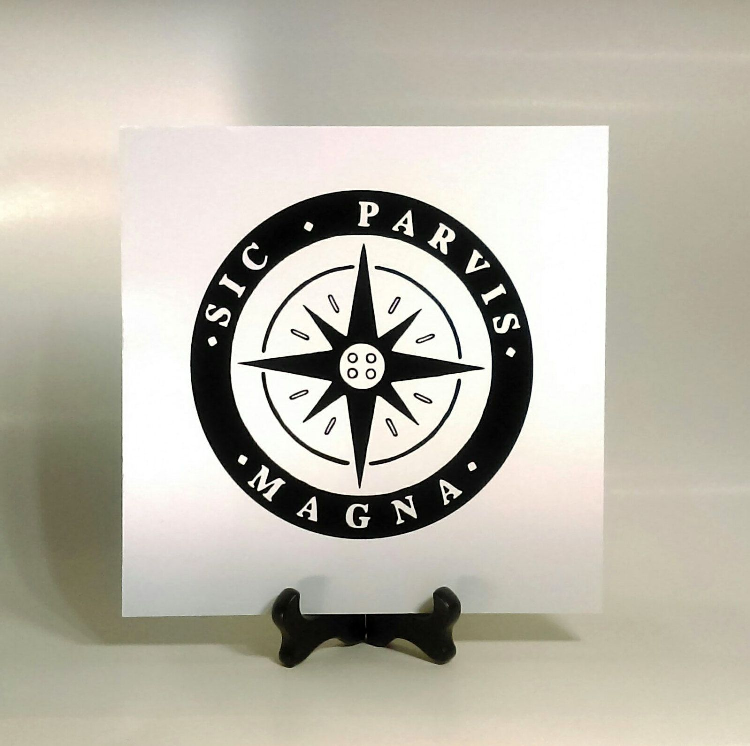 Uncharted 4 Vinyl Decal, Sic Parvis Magna Decal, A Thiefs End Decal, Greatness…