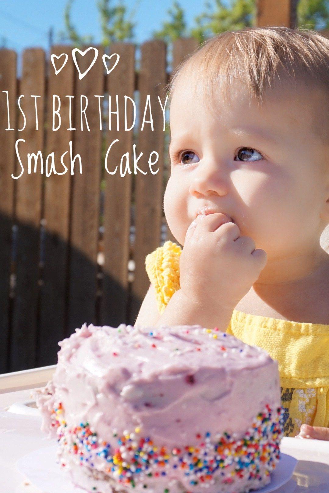 Healthy 1st birthday smash cake the darling dahlia