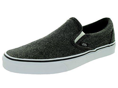a100568a0e29b7 Vans Unisex Classic SlipOn BlackTrue White Skate Shoe 11 Men US     Click  on the image for additional details.(This is an Amazon affiliate link)