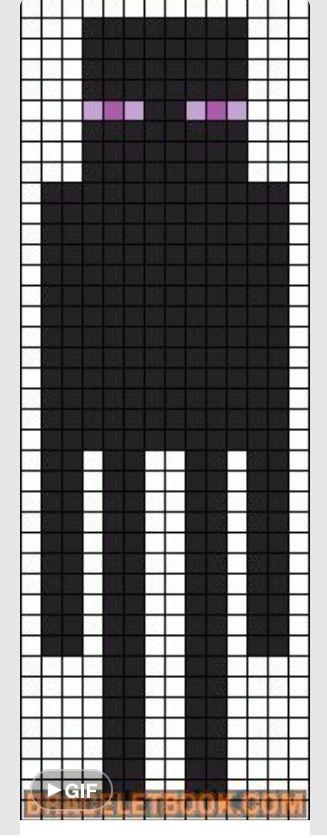enderman pixel art template wwwpixsharkcom images