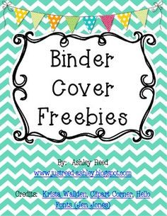 binder insert template