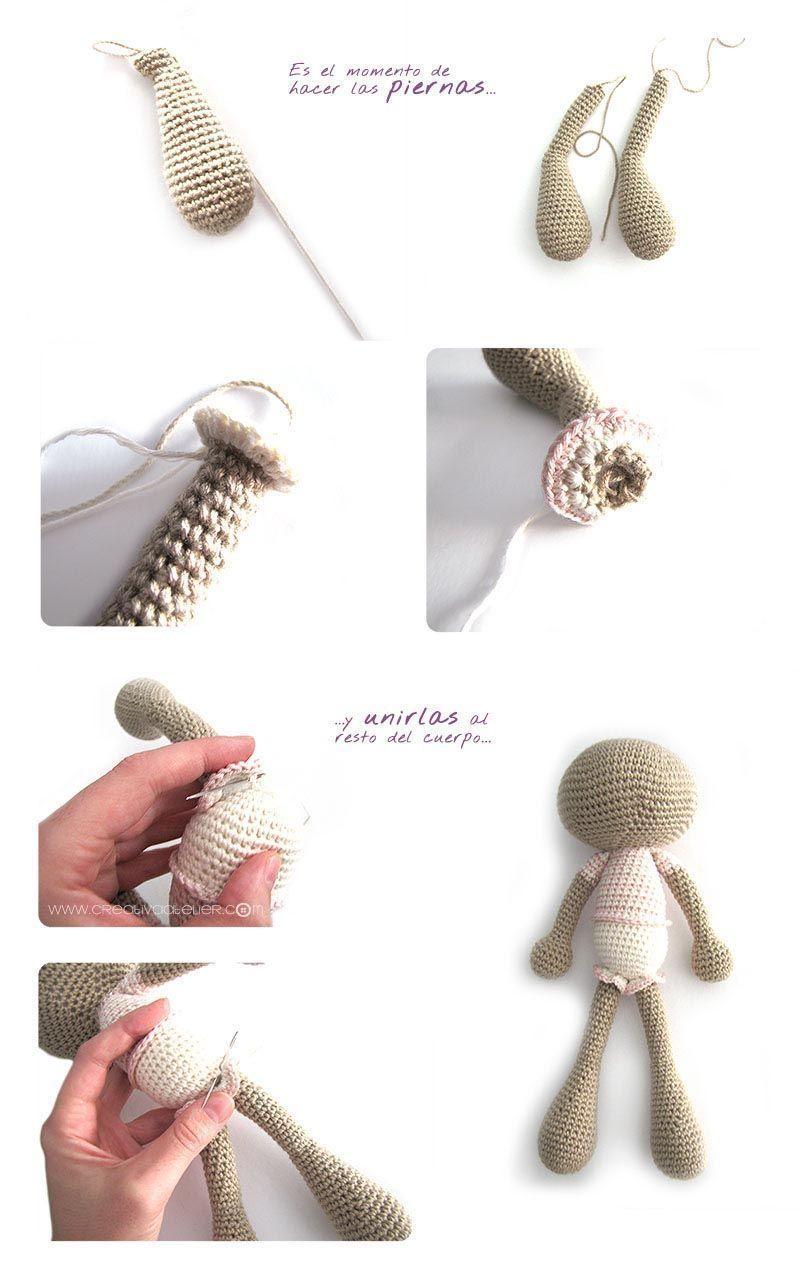 Peluche de crochet conejita de orejas largas - Amigurumi | Pinterest ...