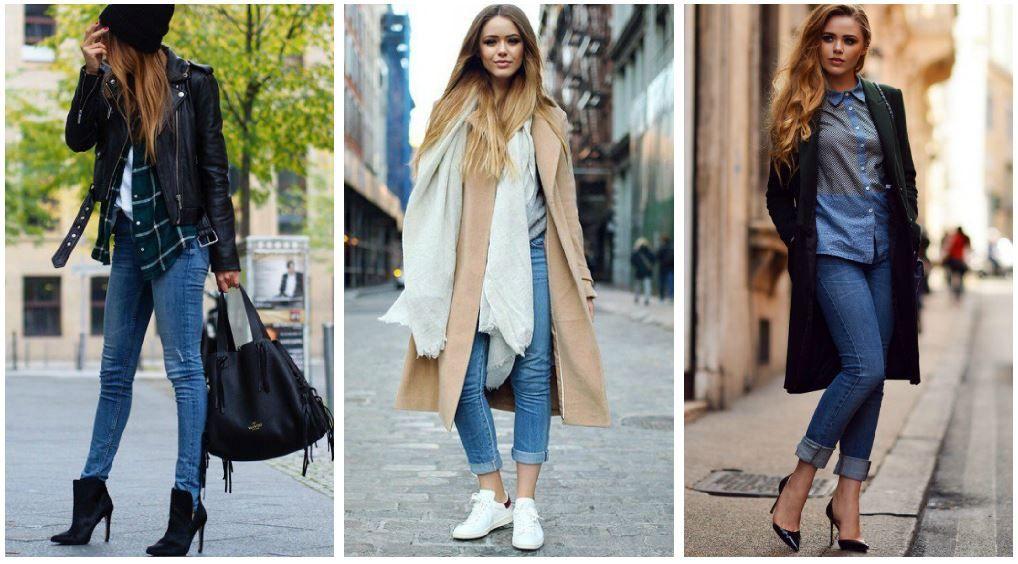 cd7d6baf26168 Kış Sokak Modası: jean pantolon nasıl giyilir ?   Moda   Jackets ...